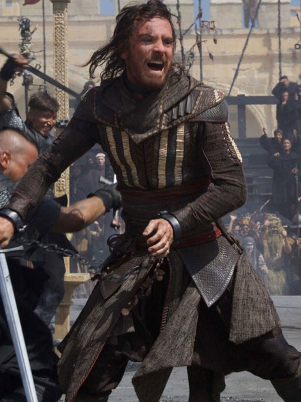 Aguilar Assassins Creed Leather Coat