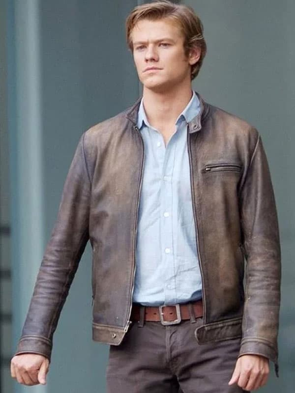 Angus MacGyver Distressed Brown Leather Jacket