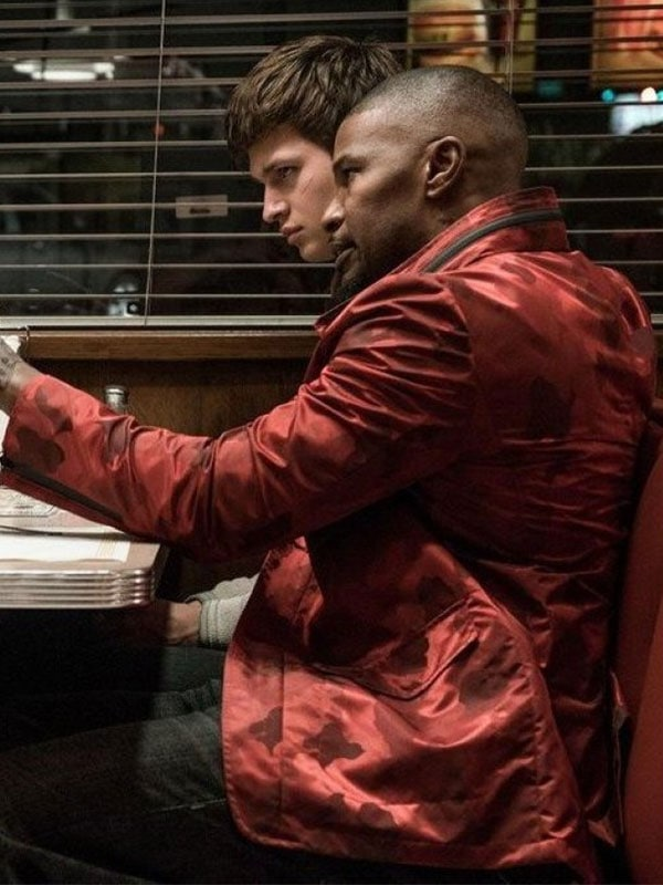 Bats Red Jamie Foxx Jacket From Movie Baby Driver