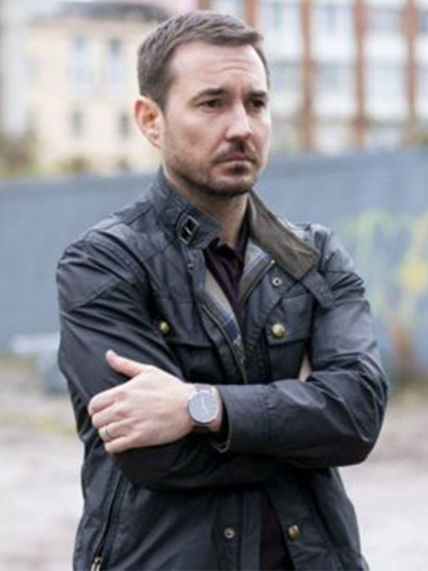Black Leather Jacket worn by Martin Compston in The Nest Tv Show