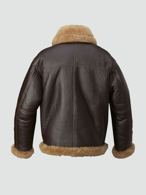 Brown Shearling Leather Jacket