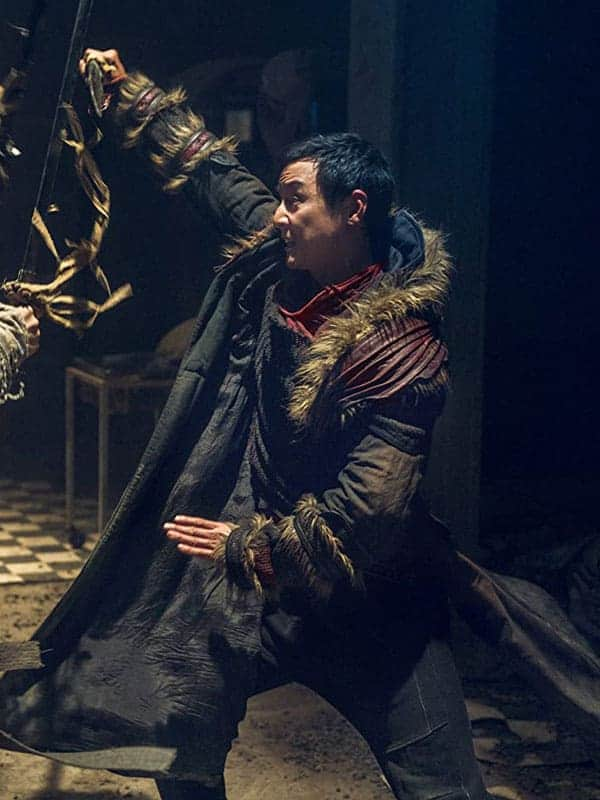 Brown Shearling coat worn by Daniel Wu in TV Series Into the Badlands