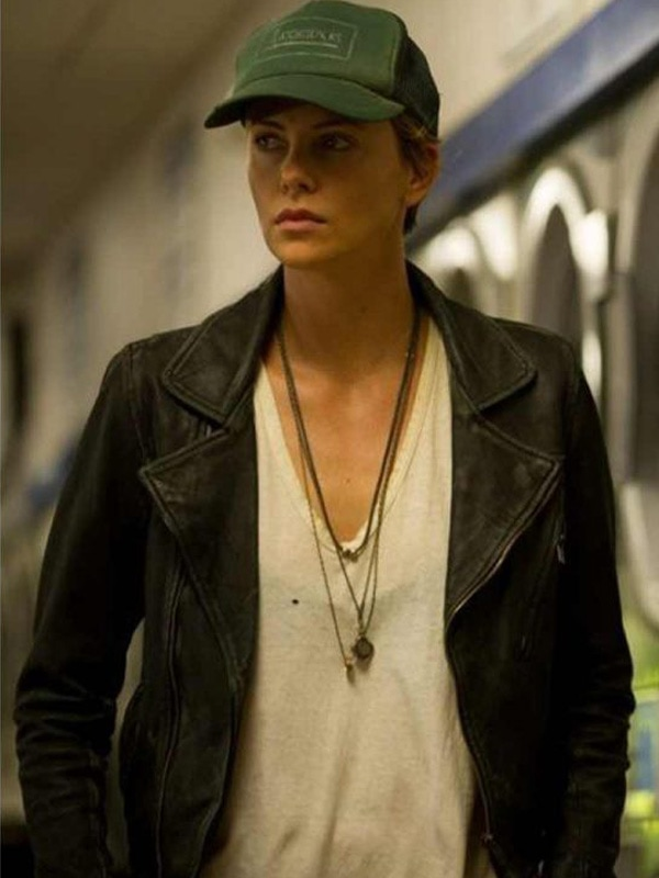 Charlize Theron Dark Places Biker Leather Jacket