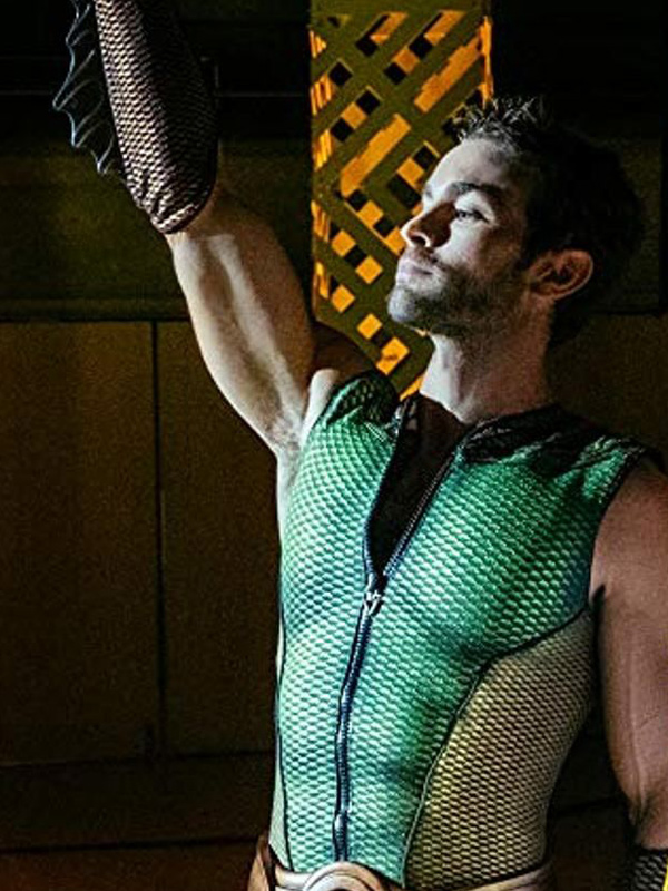 Chase Crawford Leather Green Vest