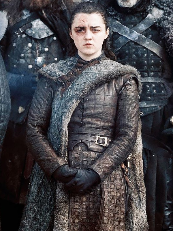 Game Of Thrones Maisie Williams Brown Leather Jacket 1