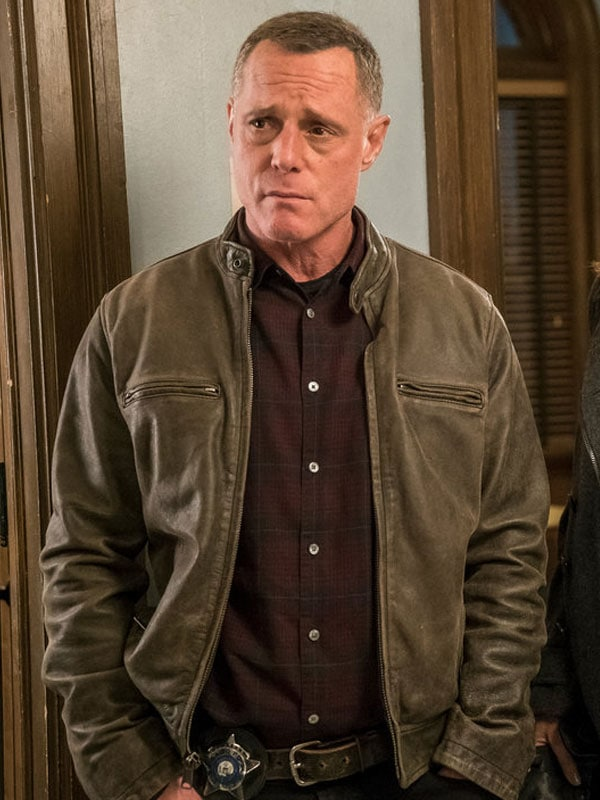 Hank Voight Tv Series Chicago P.D. Jason Beghe Distressed Brown Leather Jacket