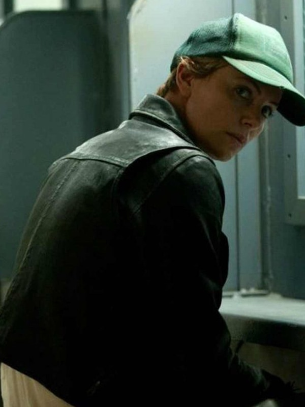 Libby Day Dark Places Charlize Theron Black Leather Jacket