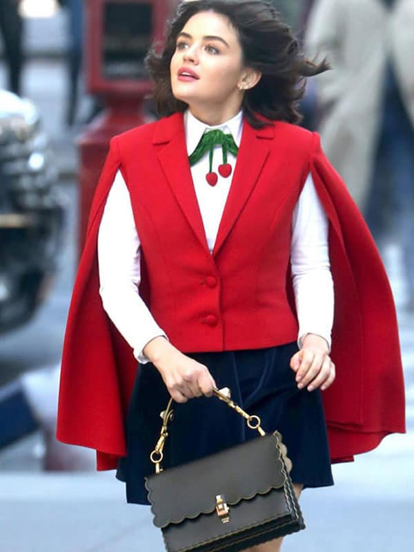 Lucy Hale Red Cape Kate Keene Vest