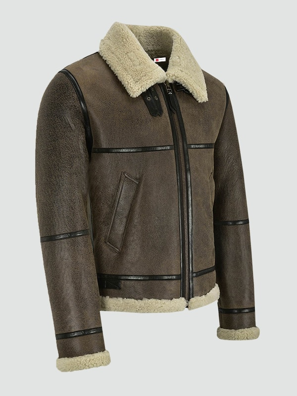 Mens Brown Air Force Leather Jacket