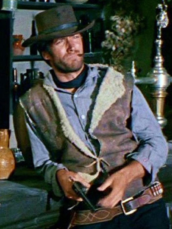 Spaghetti Western Clint Eastwood Brown Leather Vest