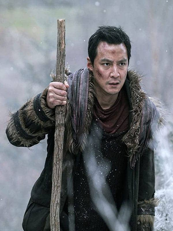 Sunny Into the Badlands Daniel Wu Brown Shearling Leather Coat