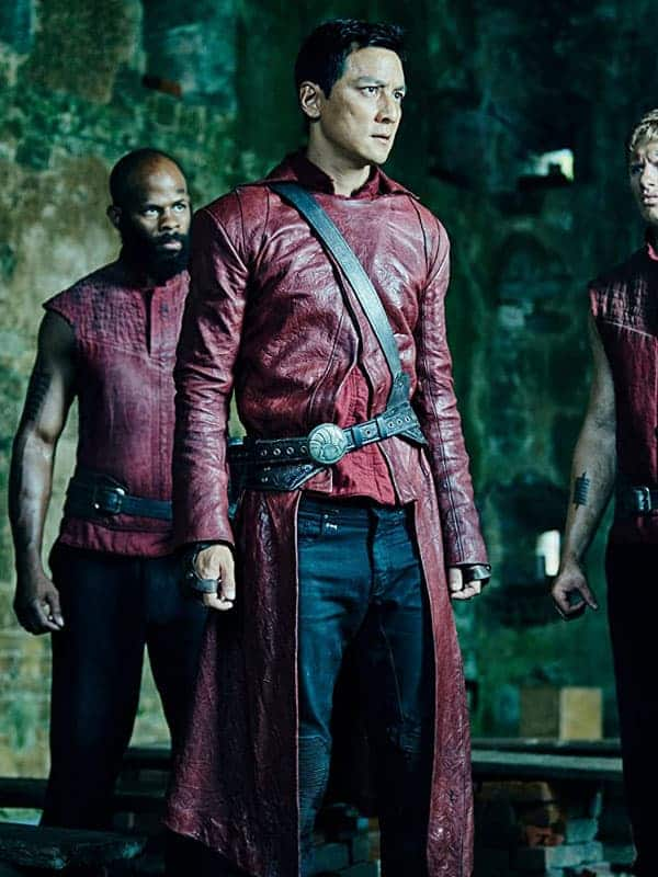 Sunny Into the Badlands Daniel Wu Red Leather Coat