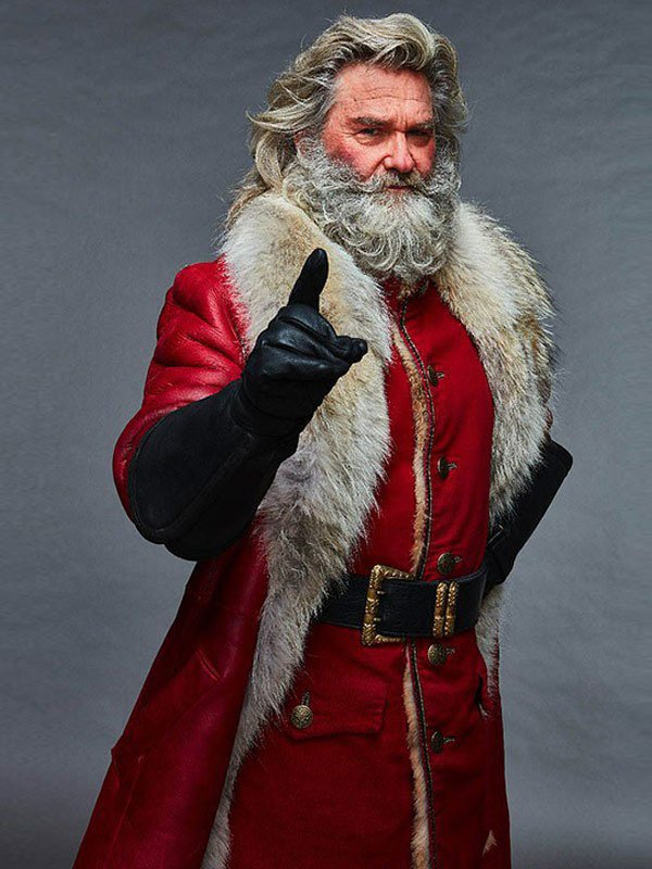 The Christmas Santa Claus Shearling Leather Coat 1