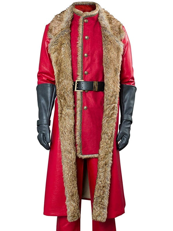 The Christmas Santa Claus Shearling Leather Coat 2