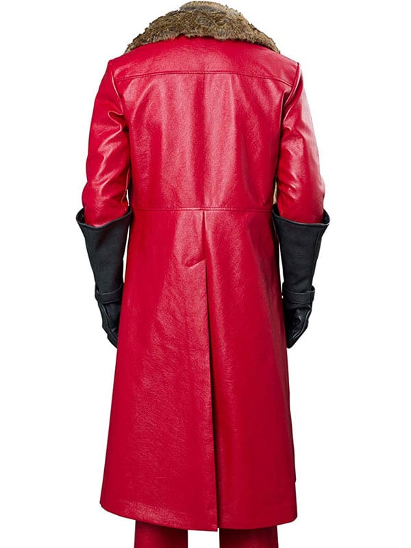 The Christmas Santa Claus Shearling Leather Coat 3