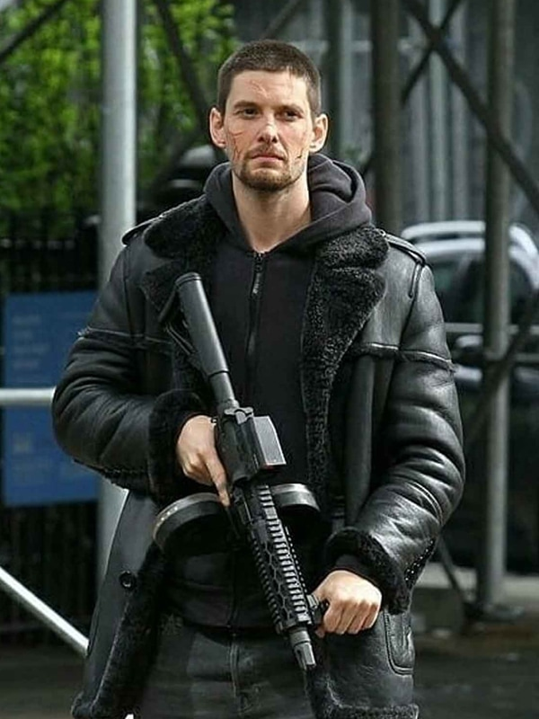 The Punisher 2 Billy Russo Shearling Leather Jacket