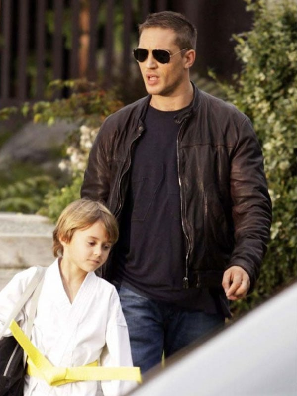 Tom Hardy This Means War Black leather Jacket