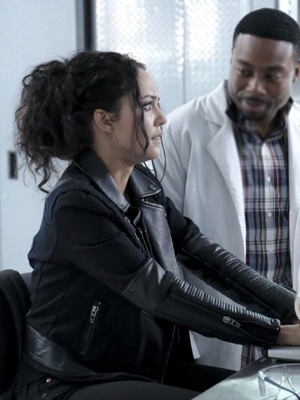 Tv Series Macgyver Tristin Mays Quilted Leather Jacket
