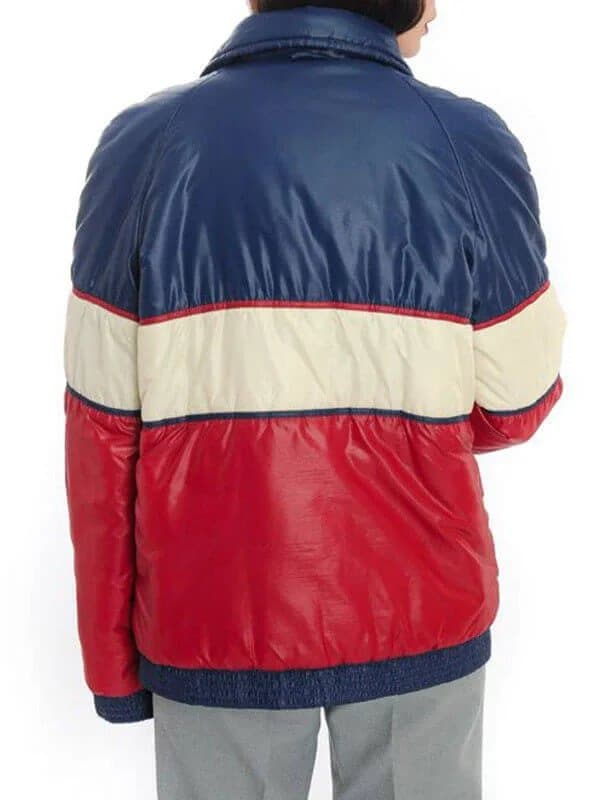 Womens 70s Unisex Tricolor Puffer Vintage Style Jacket