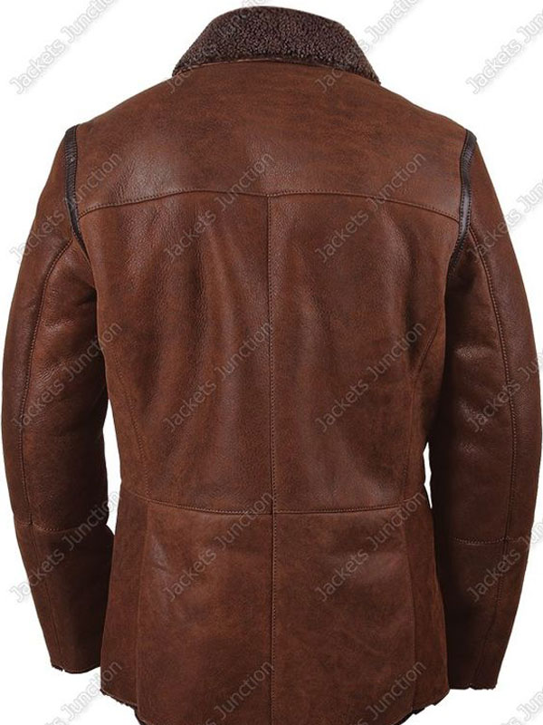 Womens Brown Winter Coat With Fux Fur