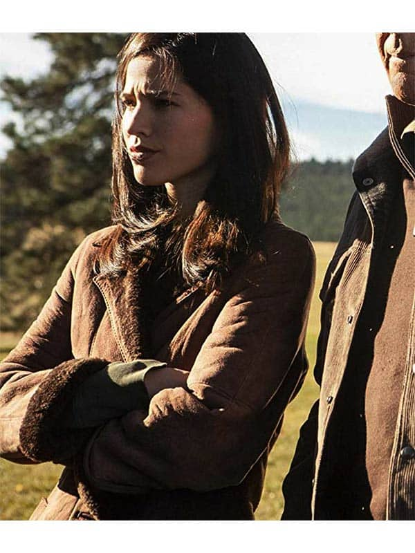 Yellowstone Kelsey Asbille Brown Trench Coat 1