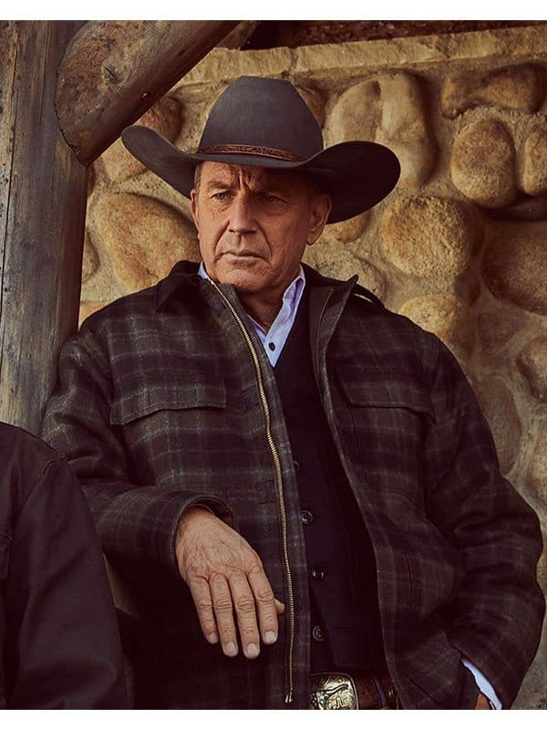 Yellowstone Kevin Costner Plaid Checked Jacket 1